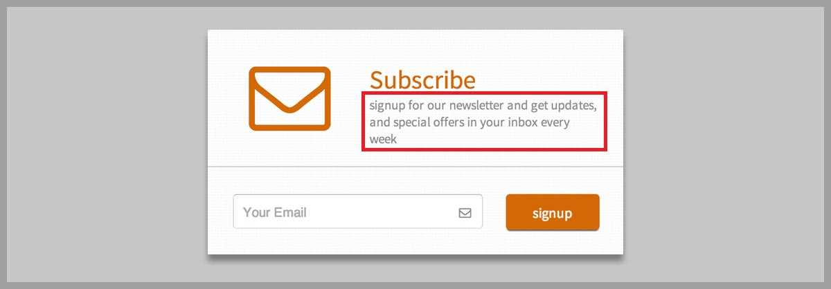 sign up microcopy - reason for asking users' email id