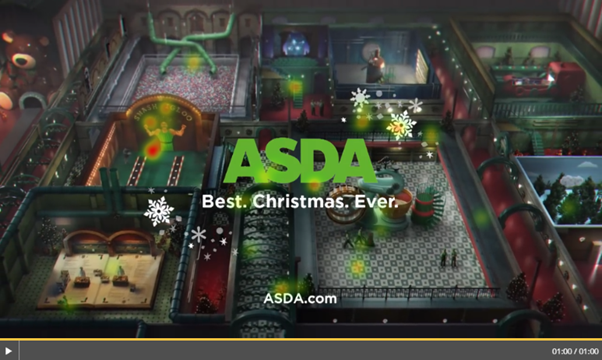 Asda logo heatmap