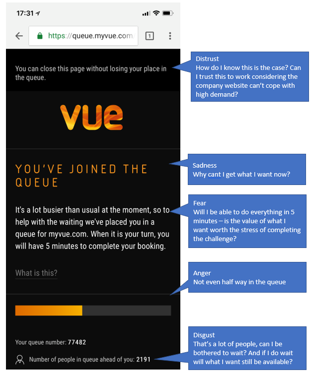 Vue Queue page