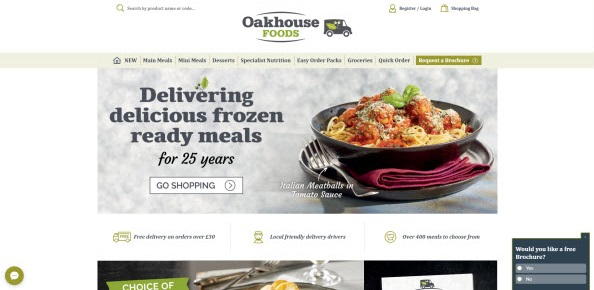 Oakhouse Foods Homepage