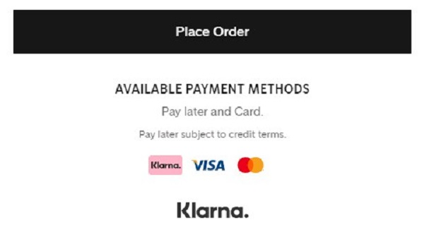 Klarna as a payment method on Shoppers Stop 24x7