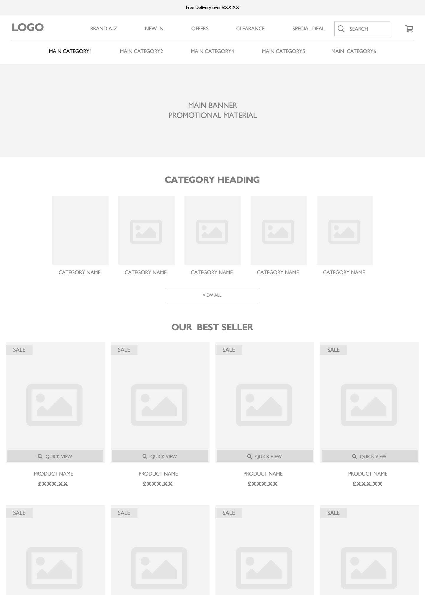 Secondary category page optimisation